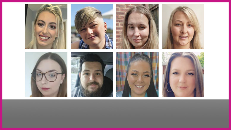 TNA programme thrives despite Covid challenges NEW STARTERS. Top row, from left: Abbiee Louise; Charlotte Hurford; Eva Predna Martins and Ewa Kowalczyk. Bottom row, from left: Ewelina Tilly; Jordon Ryan; Kerrie Cox and Kerry Price.
